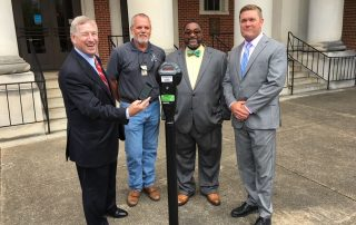 City Officials Around Smart Parking Feature